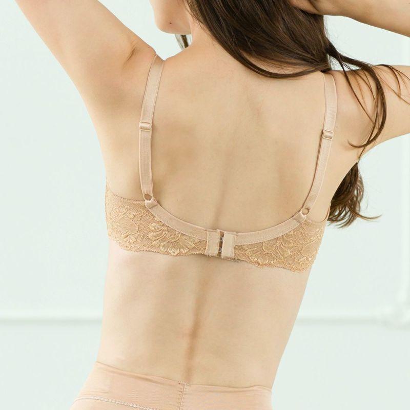 育乳ブラ・胸育ブラのエクサブラミディ・ベージュの画像